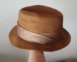 麦わら帽子の型崩れの直し方