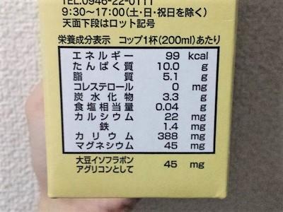 調製豆乳と無調整豆乳 栄養の違い